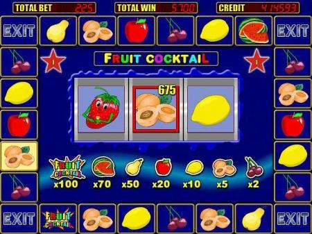 Бонусная игра на игровом автомате Fruit Cocktail