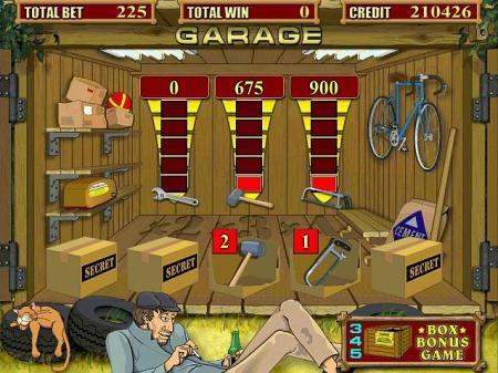 Бонусная игра в игровом автомате Garage